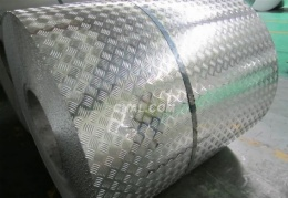 Embossed aluminum roof coil
