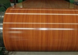 Wood and stone pattern coated aluminum coil